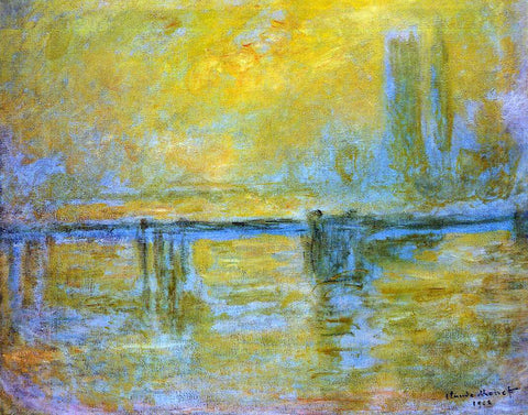 Claude Oscar Monet Charing Cross Bridge, Fog - Hand Painted Oil Painting