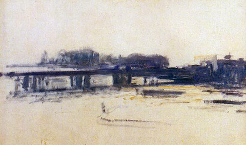 Claude Oscar Monet Charing Cross Bridge (study) - Hand Painted Oil Painting