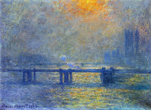 Claude Oscar Monet Charing Cross Bridge, The Thames - Hand Painted Oil Painting