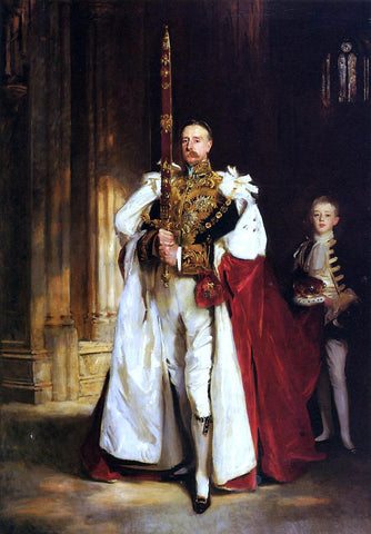 John Singer Sargent Charles Stewart, Sixth Marquess of Londonderry, Carrying the Great Sword of State at the Coronation - Hand Painted Oil Painting