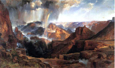Thomas Moran Chasm of the Colorado - Hand Painted Oil Painting