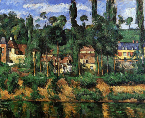 Paul Cezanne Chateau du Medan - Hand Painted Oil Painting