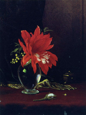 Martin Johnson Heade Chateau of Flower - Hand Painted Oil Painting