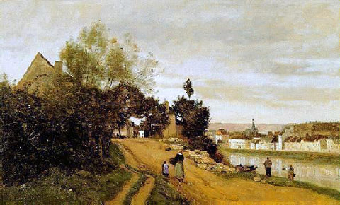 Jean-Baptiste-Camille Corot Chateau Thierry - Hand Painted Oil Painting