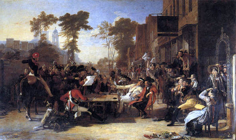 Sir David Wilkie Chelsea Pensioners Reading the Waterloo Dispatch - Hand Painted Oil Painting