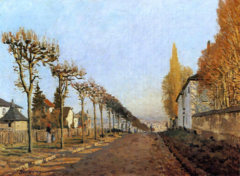 Alfred Sisley Chemin de la Machine, Louveciennes (also known as Rue de la Machine, Louveciennes) - Hand Painted Oil Painting