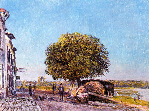 Alfred Sisley Chestnut Tree at Saint-Mammes - Hand Painted Oil Painting