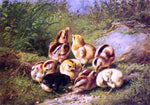"Arthur Fitzwilliam Tait Chicks ""Rather Hard Fare"" - Hand Painted Oil Painting"
