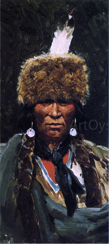 Henry F Farney Chief Ogallala Fire - Hand Painted Oil Painting