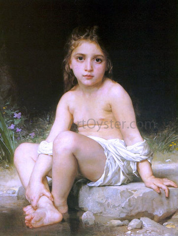 William Adolphe Bouguereau A Child at Bath - Hand Painted Oil Painting