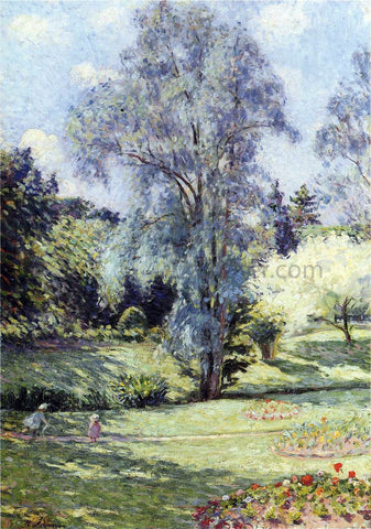 Henri Lebasque Child Playing in the Garden - Hand Painted Oil Painting