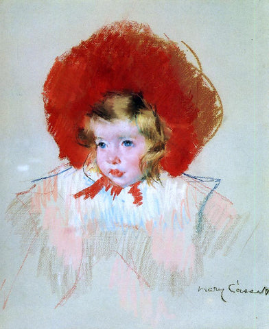 Mary Cassatt Child with Red Hat - Hand Painted Oil Painting