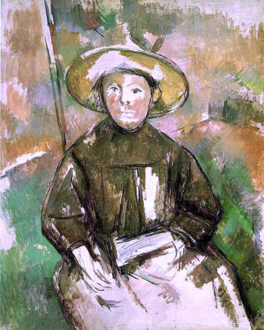 Paul Cezanne Child with Straw Hat - Hand Painted Oil Painting