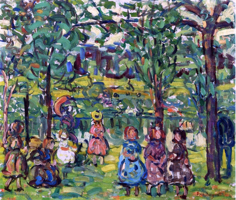 Maurice Prendergast Children in the Park - Hand Painted Oil Painting