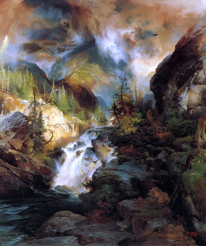 Thomas Moran Children of the Mountain - Hand Painted Oil Painting