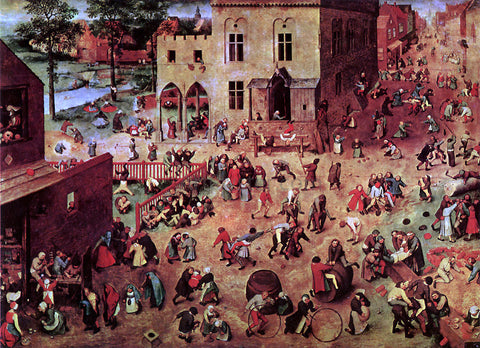 The Elder Pieter Bruegel Children's Games - Hand Painted Oil Painting