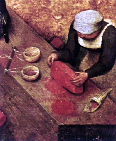 The Elder Pieter Bruegel Children's Games (detail) - Hand Painted Oil Painting