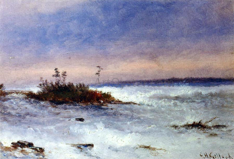 Charles Henry Gifford Choppy Water, Possibly Niagara, New York - Hand Painted Oil Painting
