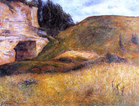 Paul Gauguin Chou Quarry, Hole in the Cliff - Hand Painted Oil Painting