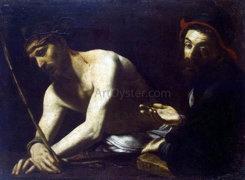 Giovanni Battista Caracciolo Christ and Caiaphas - Hand Painted Oil Painting
