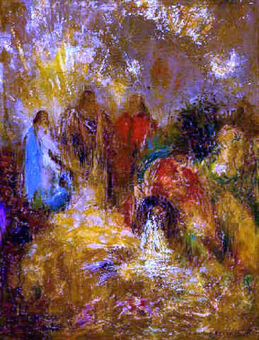Odilon Redon Christ and His Disciples - Hand Painted Oil Painting