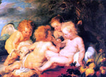 Peter Paul Rubens Christ and St. John with Angels - Hand Painted Oil Painting