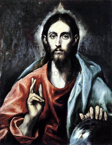 El Greco Christ as Saviour - Hand Painted Oil Painting