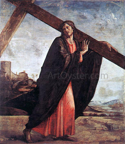 Alvise Vivarini Christ Carrying the Cross - Hand Painted Oil Painting