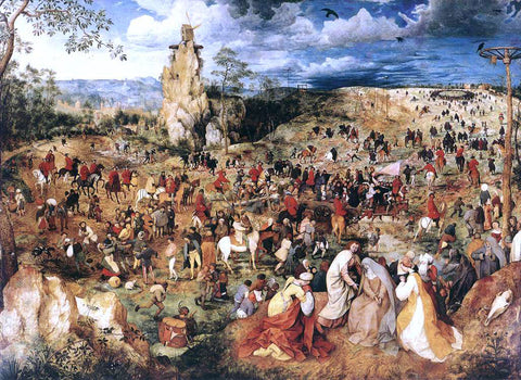 The Elder Pieter Bruegel Christ Carrying the Cross - Hand Painted Oil Painting
