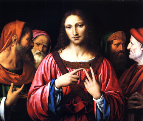 Bernardino Luini Christ Disputing with the Doctors - Hand Painted Oil Painting
