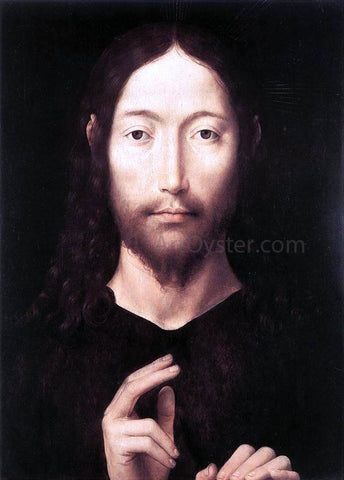 Hans Memling Christ Giving His Blessing - Hand Painted Oil Painting