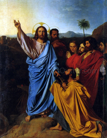 Jean-Auguste-Dominique Ingres Christ Giving Peter the Keys of Paradise - Hand Painted Oil Painting