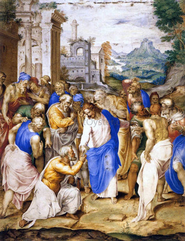 Giovanni Battista Castello Christ Giving the Keys to St Peter - Hand Painted Oil Painting