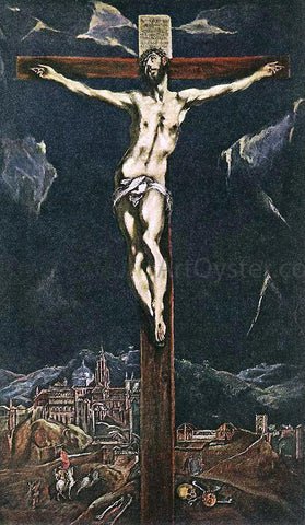 El Greco Christ in Agony on the Cross - Hand Painted Oil Painting