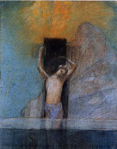 Odilon Redon Christ on the Cross - Hand Painted Oil Painting