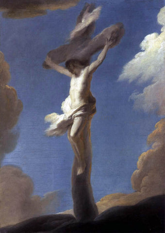 Louis De Silvestre Christ on the Cross Formed by Clouds - Hand Painted Oil Painting