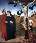 Master the Virgin Christ on the Cross with Mary, John and Mary Magdalene - Hand Painted Oil Painting