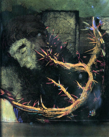 Odilon Redon Christ with Red Thorns - Hand Painted Oil Painting
