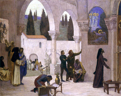 Pierre Puvis De Chavannes Christian Inspiration - Hand Painted Oil Painting