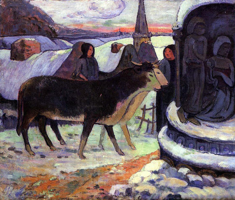Paul Gauguin Christmas Night - Hand Painted Oil Painting