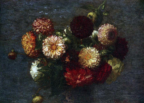 Henri Fantin-Latour Chrysanthemums - Hand Painted Oil Painting
