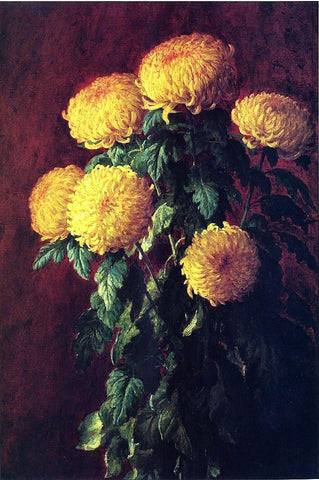 John Ross Key Chrysanthemums - Hand Painted Oil Painting
