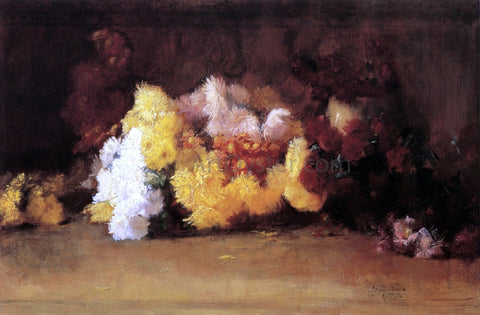 Guy Orlando Rose Chrysanthemums - Hand Painted Oil Painting