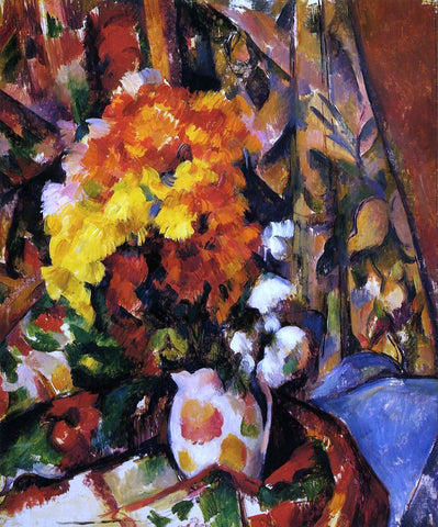 Paul Cezanne Chrysanthemums - Hand Painted Oil Painting