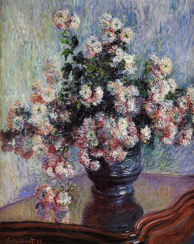 Claude Oscar Monet Chrysanthemums - Hand Painted Oil Painting