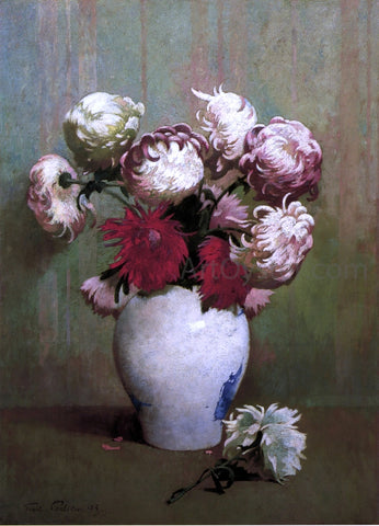 Emil Carlsen Chrysanthemums in a Canton Vase - Hand Painted Oil Painting