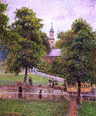 Camille Pissarro Church at Kew - Hand Painted Oil Painting
