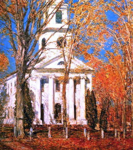 Frederick Childe Hassam Church at Old Lyme - Hand Painted Oil Painting