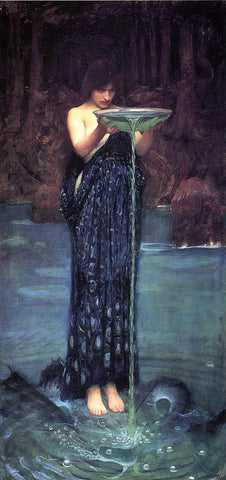 John William Waterhouse Circe Invidiosa - Hand Painted Oil Painting