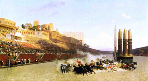 Jean-Leon Gerome Circus Maximus - Hand Painted Oil Painting